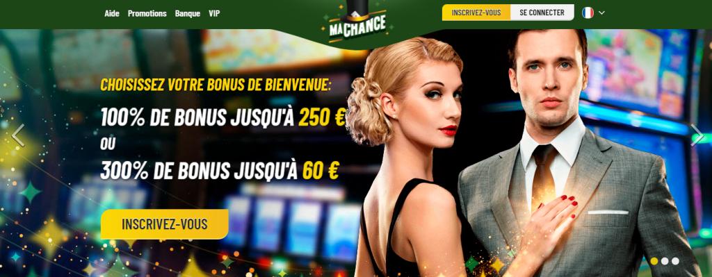 MaChance Casino Incentive